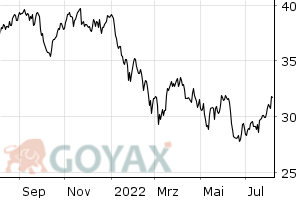 TecDAX Performance-Index - Indexz. Open End Indexzertifikat | DE0007689184 | 768918 - Chart